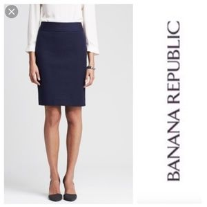 Banana Republic Navy Blue Career Pencil Skirt